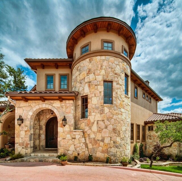 Spanish Style Home Exteriors: Prefer Stone Over Brick