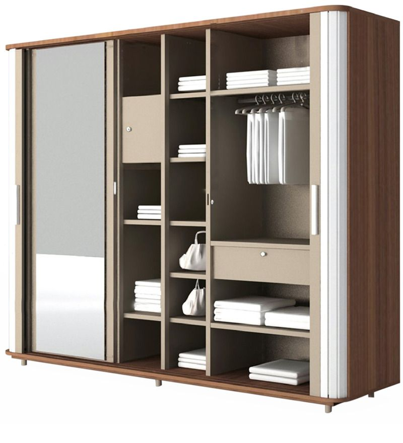 Wardrobe With Sliding Shutters By Rehman Wood Carving