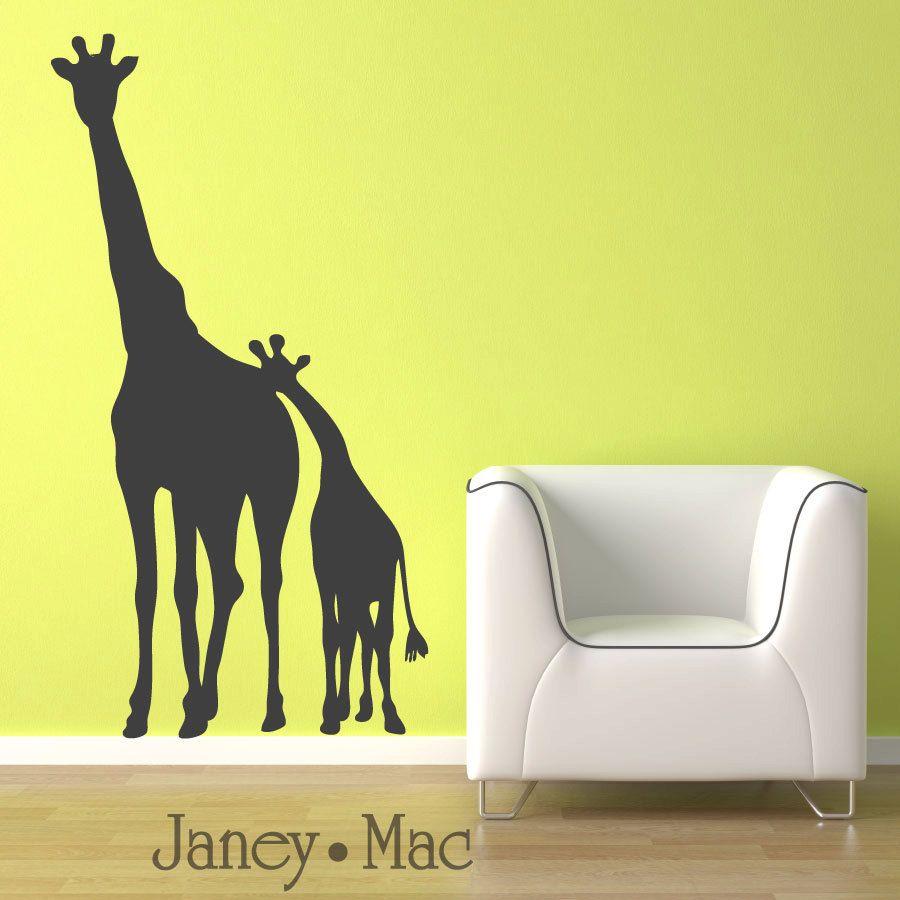 Childrens Giraffe Wall Decal