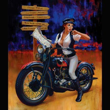 biker pinup girl tattoo ideas inspiration pinups david uhl crossroads pinups. Black Bedroom Furniture Sets. Home Design Ideas
