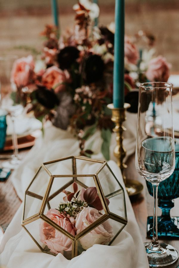 modern metallic wedding inspiration inspiration rustic weddings rh pinterest com