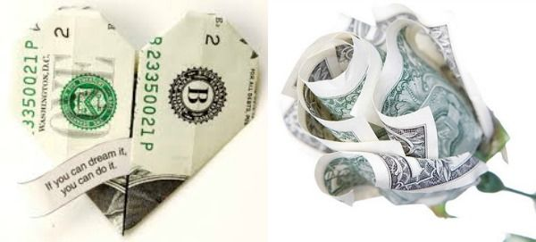 10 Bar & Bat Mitzvah Gifts - Present Cash Creatively with Money Origami - mazelmoments.