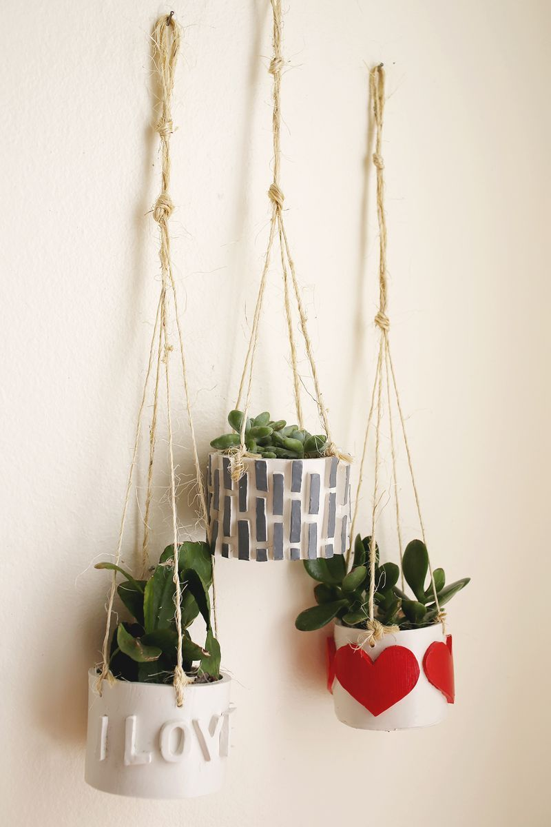 Cute idea for some hanging planters Make