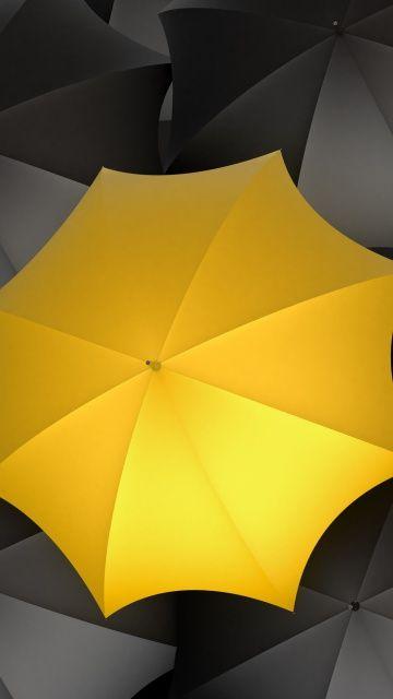 Let It Rain Regenschirm Gelb Schirm