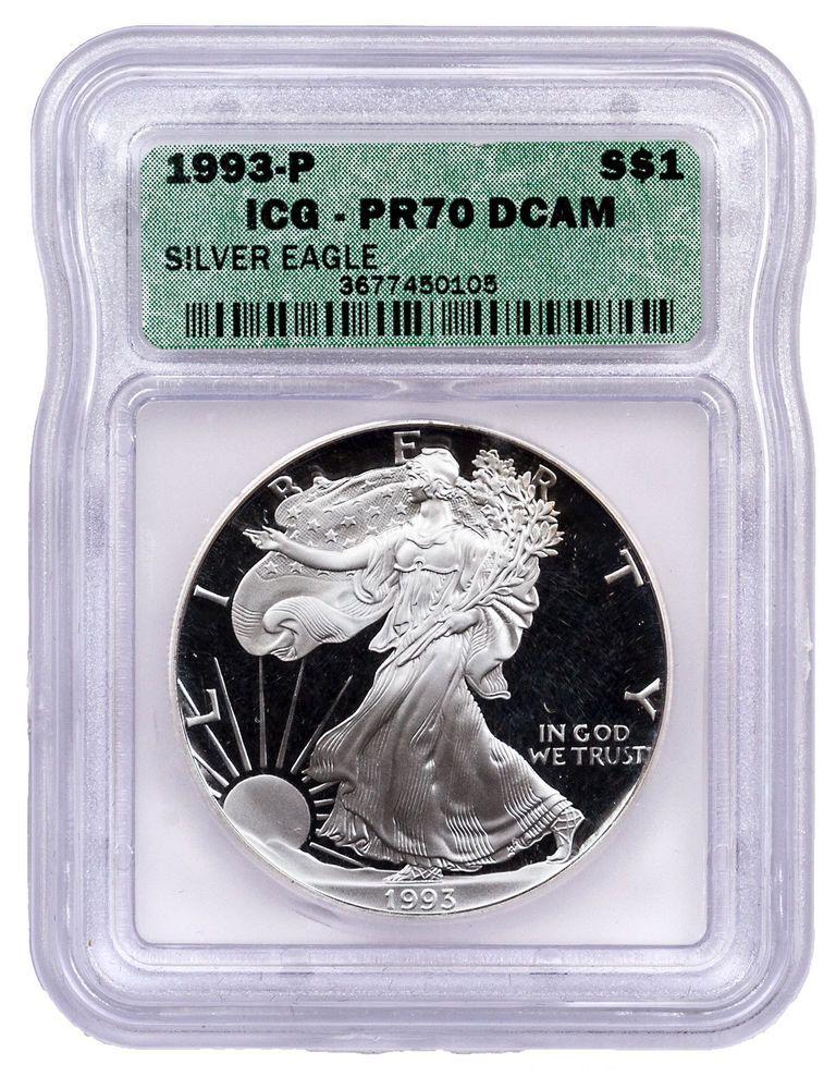 2010-W American Silver Eagle Dollar PR70DCAM PCGS Proof 70 Deep Cameo