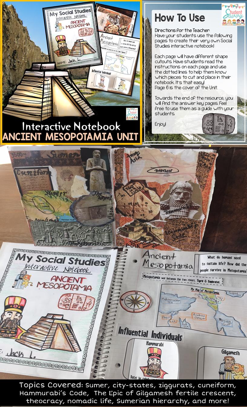 Ancient Mesopotamia Interactive Notebook Ancient Mesopotamia Interactive