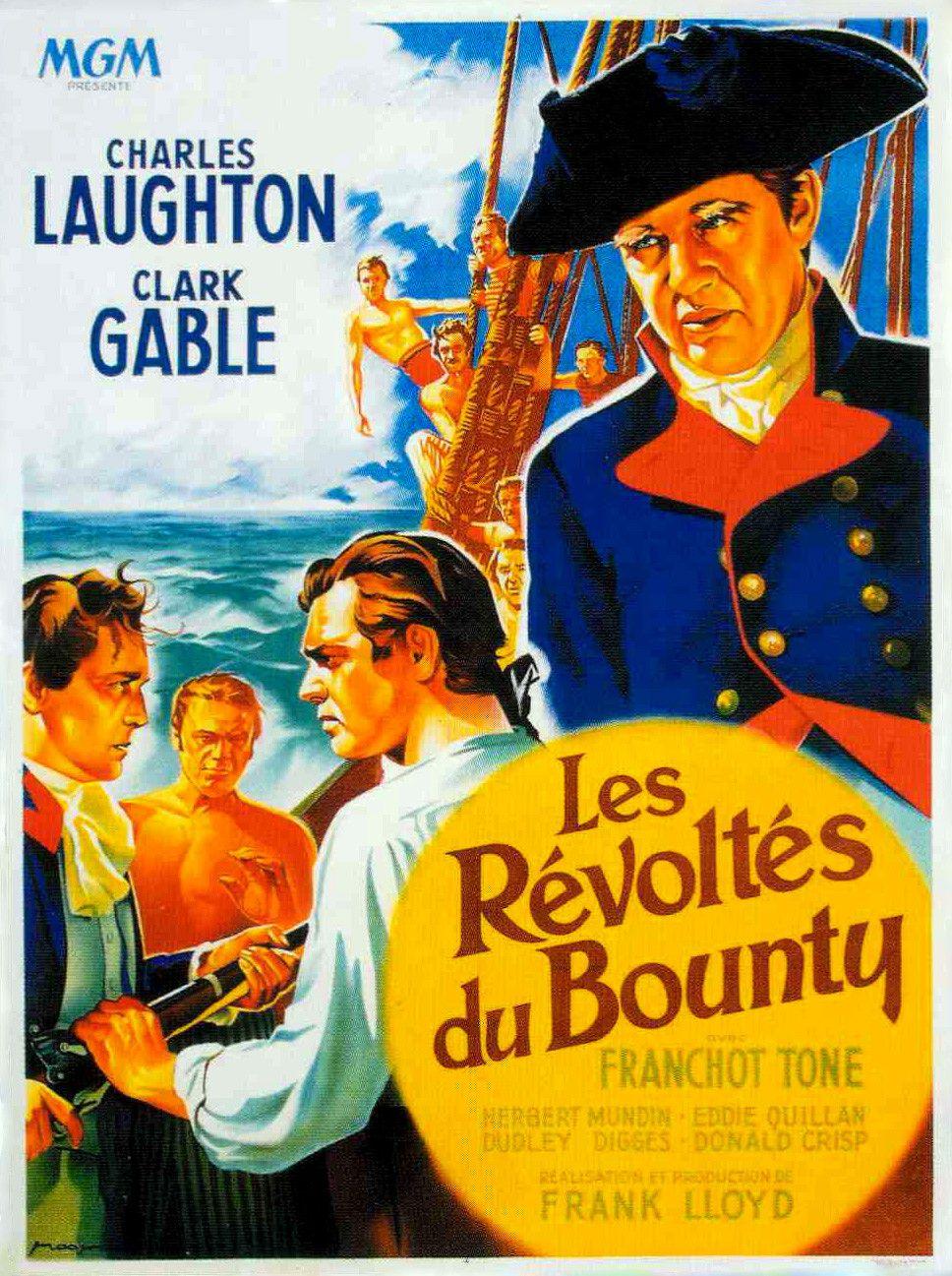 Les Révoltés Du Bounty 1935 : révoltés, bounty, Révoltés, Bounty, (1935), Affiches, Anciennes,, Affiche, Cinéma,, Cinéma