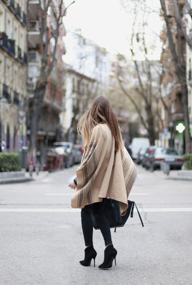 Camel Striped Cape
