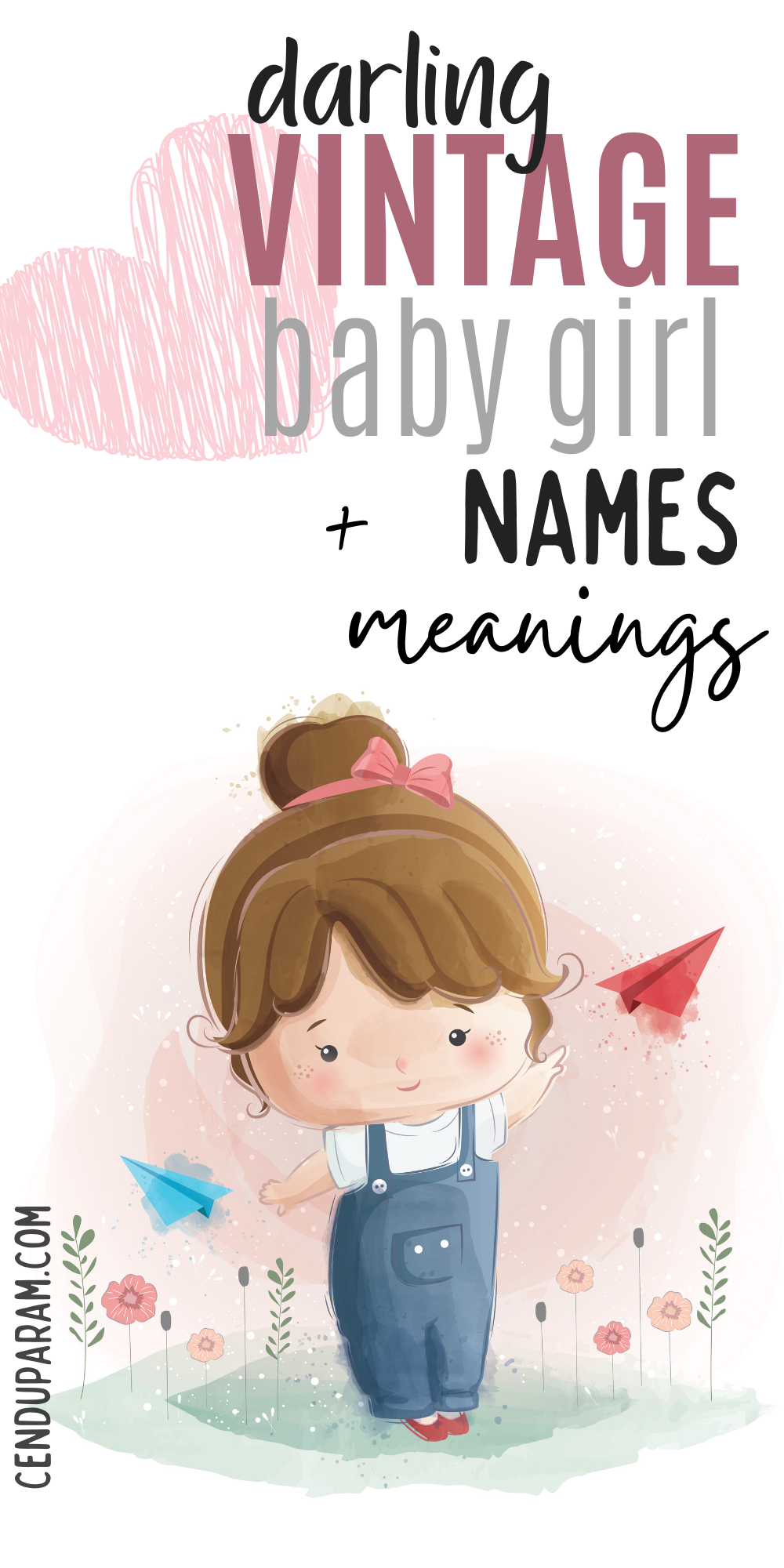 Unique Vintage Baby Girl Names and Meanings
