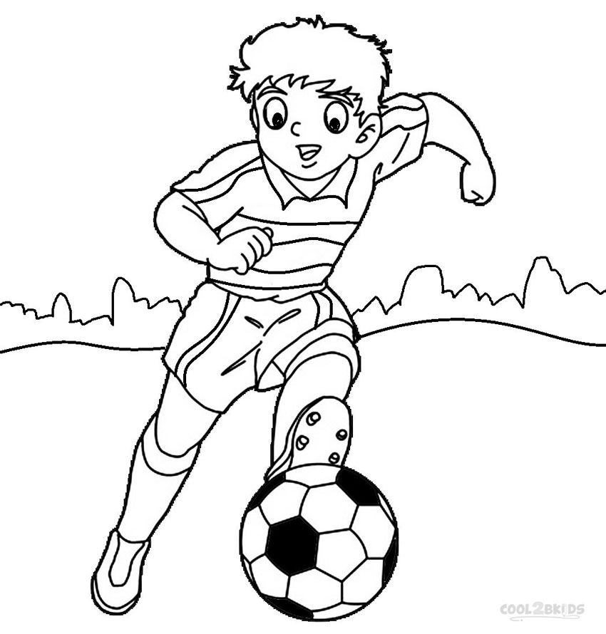 Football Player Coloring Pages Football Coloring Pages