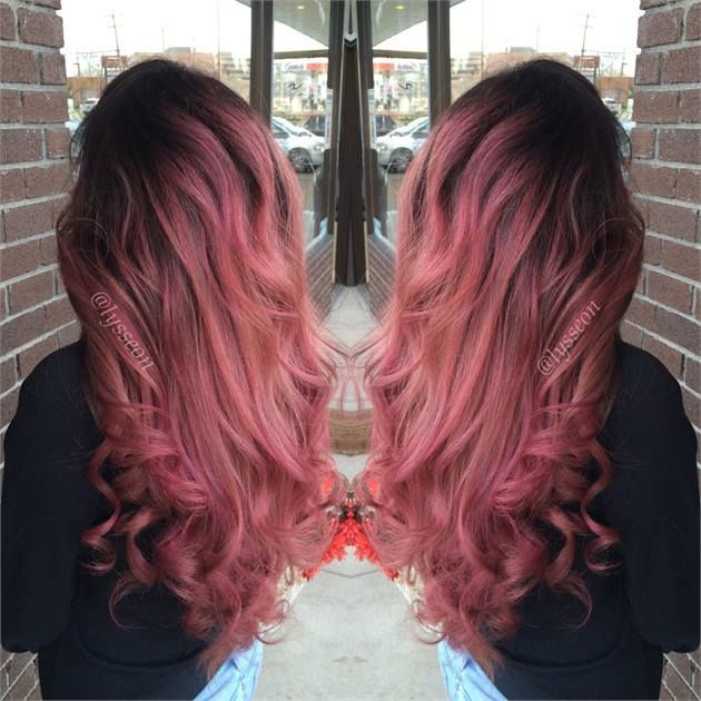 Transformation Deep Rose Gold Rapunzel Career Hair Color