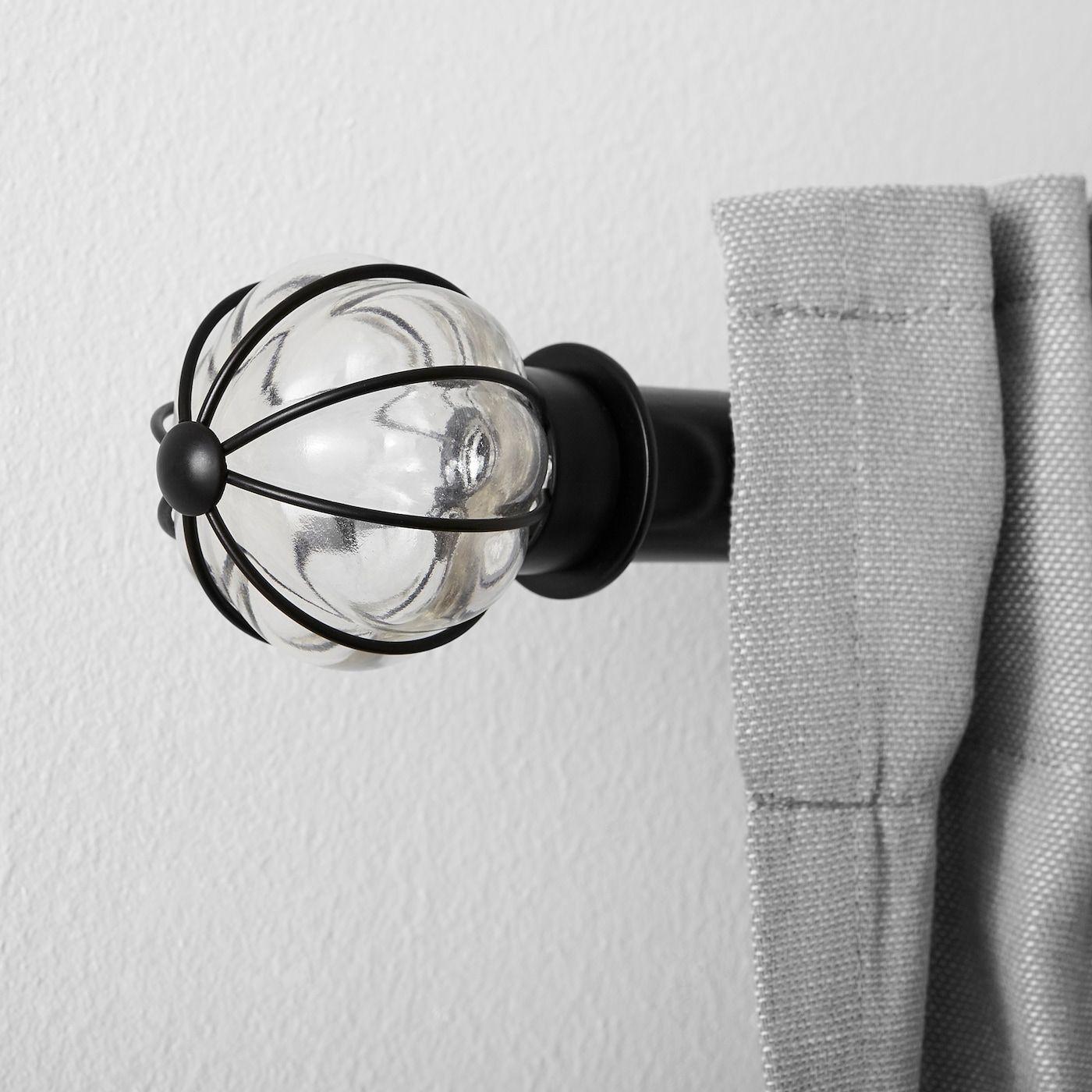 Blast Finials 1 Pair Black In 2020 Finials Curtain Rods Ikea