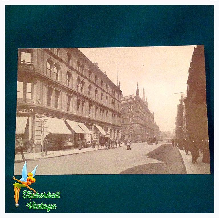 Vintage Market Street Bradford Postcard. Yorkshire. Vintage Postcard. Collectors. Postcard. Collectible Postcard. by TinkerbellVintage on Etsy