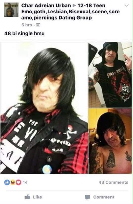 What A Babehe Looks Like Emo Dad From That One Youtube Channel I