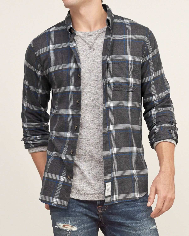 mens muscle fit plaid shirt mens shirts abercrombie