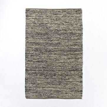 Sweater Wool Rug Charcoal Westelm Modern Wool Rugs Rugs Modern Area Rugs