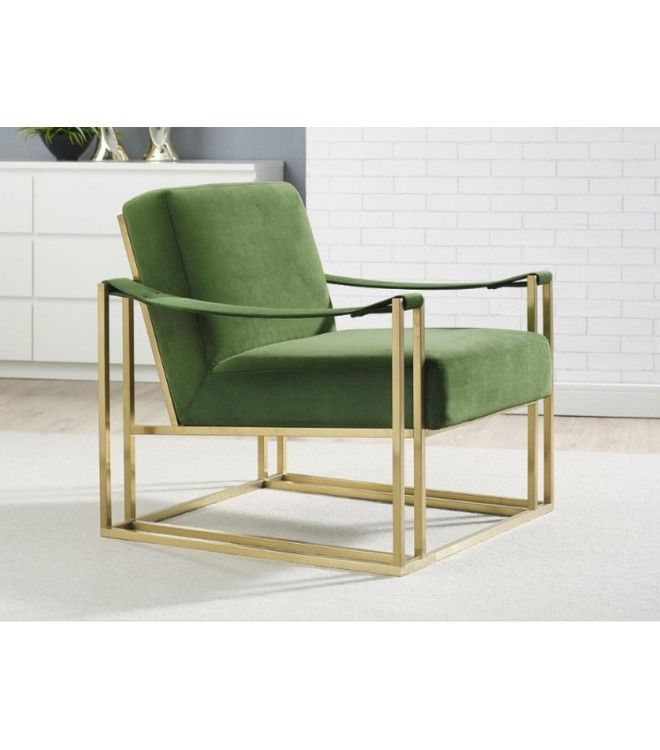 luscious green velvet gold frame lounge chair living room rh pinterest com