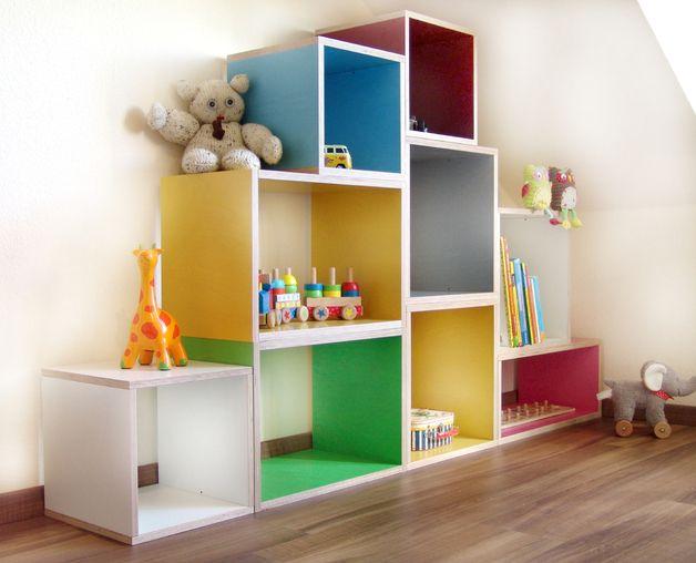 regale kinderregal bsquary kids designregal xl ein designerst ck von bsquary bei dawanda. Black Bedroom Furniture Sets. Home Design Ideas