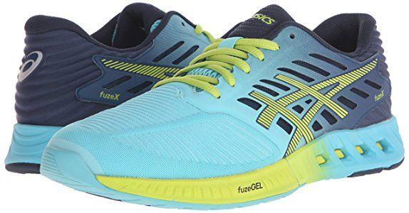 ASICS Women's Fuzex Running Shoe, Turquoise/Sharp Green/Ink, ...