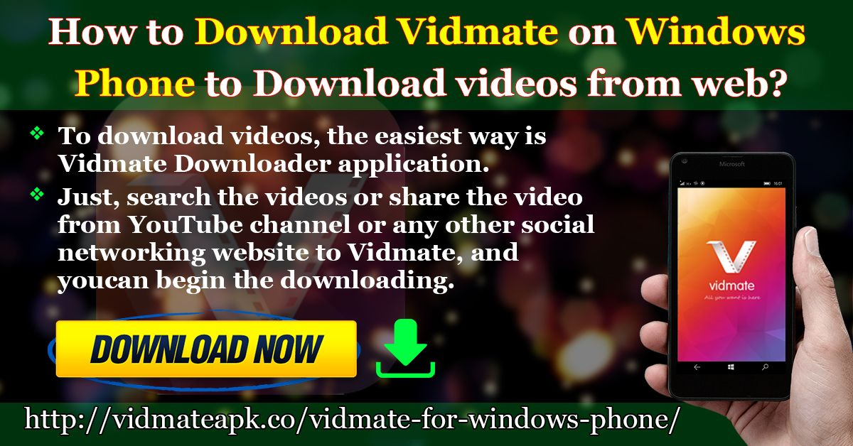 To download videos, the easiest way is Vidmate Downloader