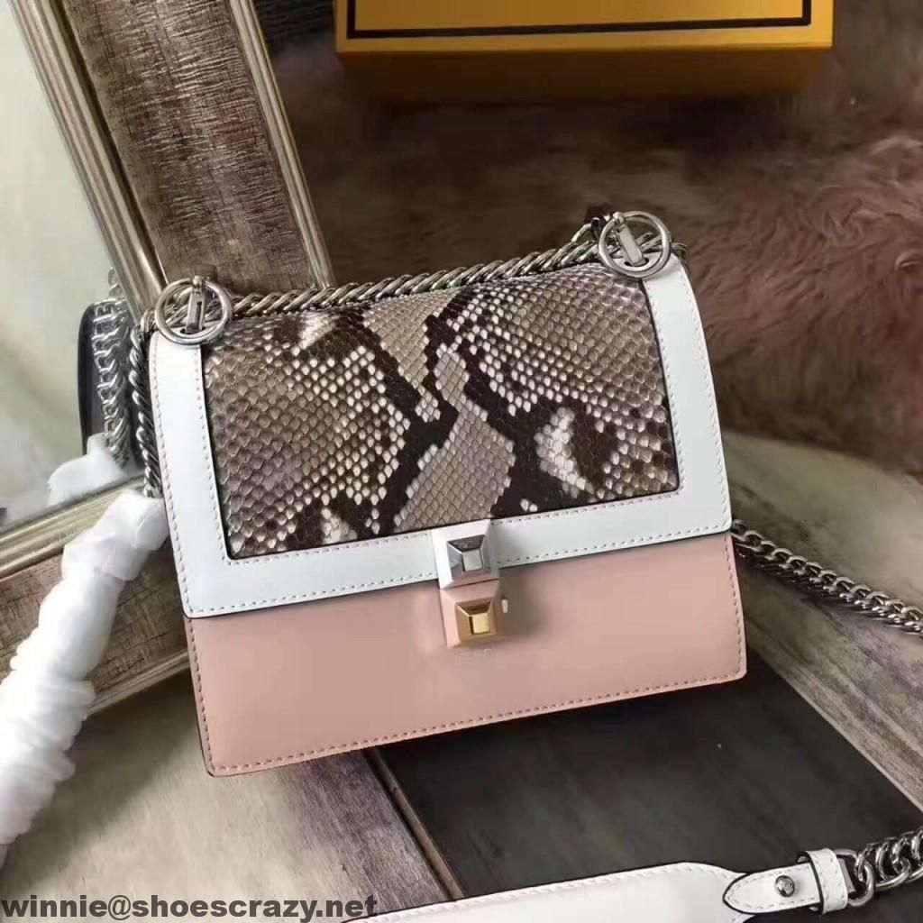 4790ac68155a Fendi Mini Kan I Bag in Two-tone Calfskin and Python Leather 2017 ...