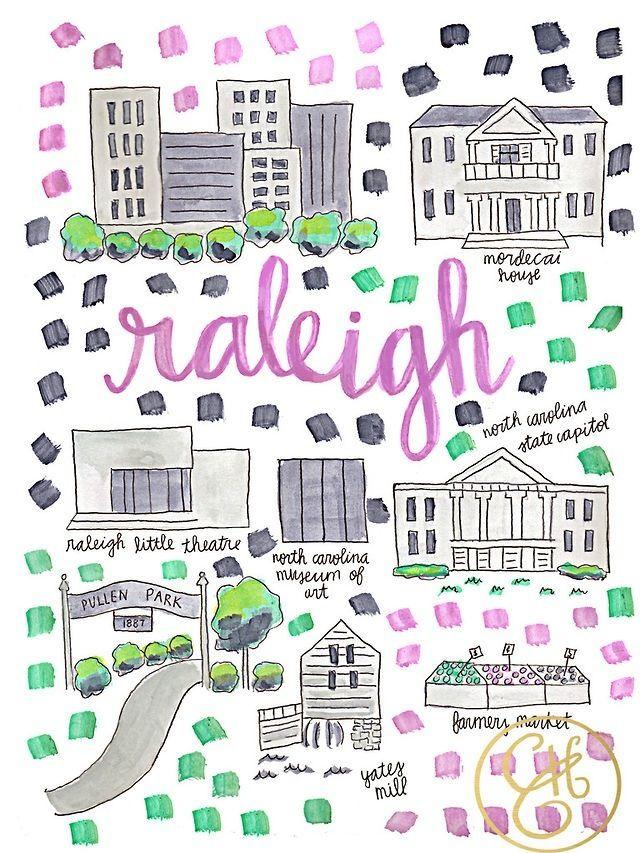 Raleigh, NC   Raleigh, North Carolina   Map, Raleigh map, North Carolina