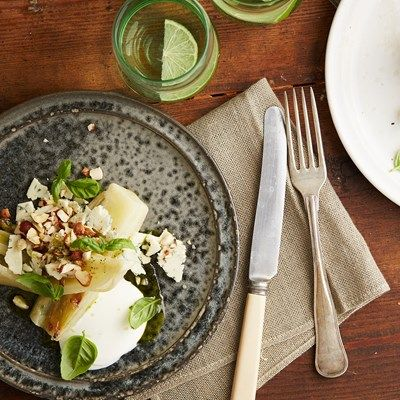 Konfiteret fennikel med dana blue og nødder
