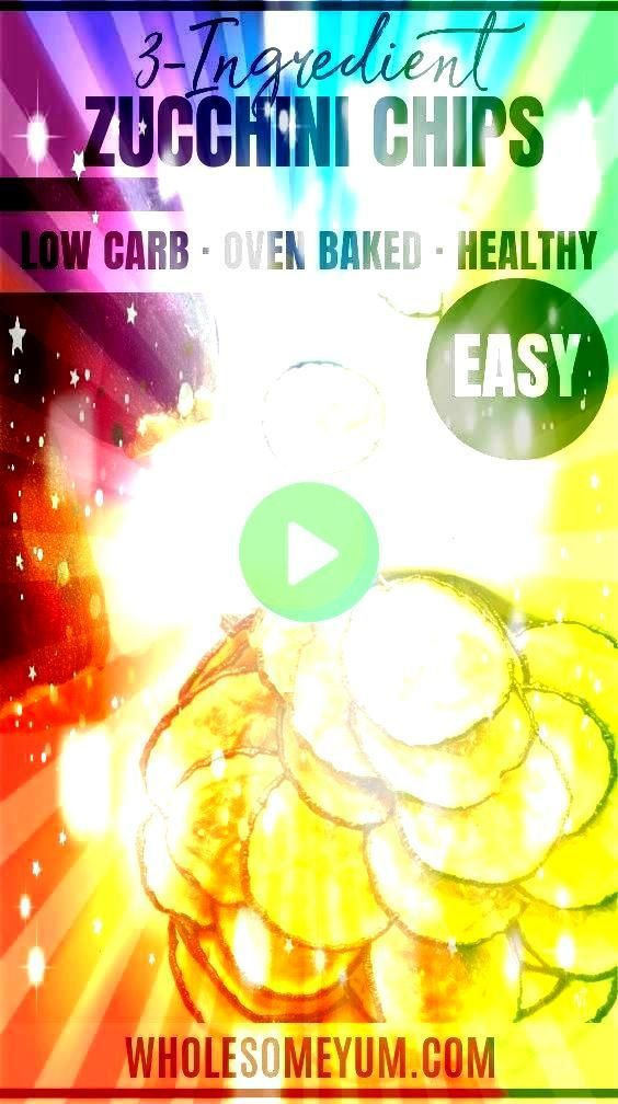 Recipe  Wholesome Yum Healthy Oven Baked Zucchini Chips Recipe  No Breading  This healthy baked zucchini chips recipe is so easy Learn how to make zucchini chips with jus...