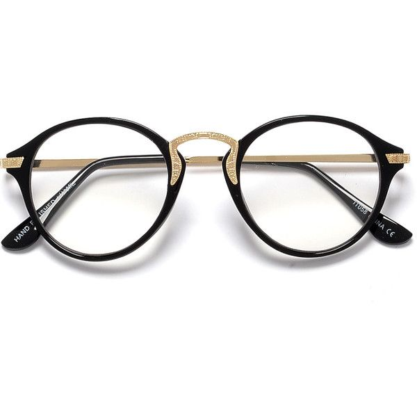 f464937dd8 High Fashion Retro P3 Clear Lens Sophisticated Eyewear ( 5) ❤ liked on  Polyvore featuring accessories