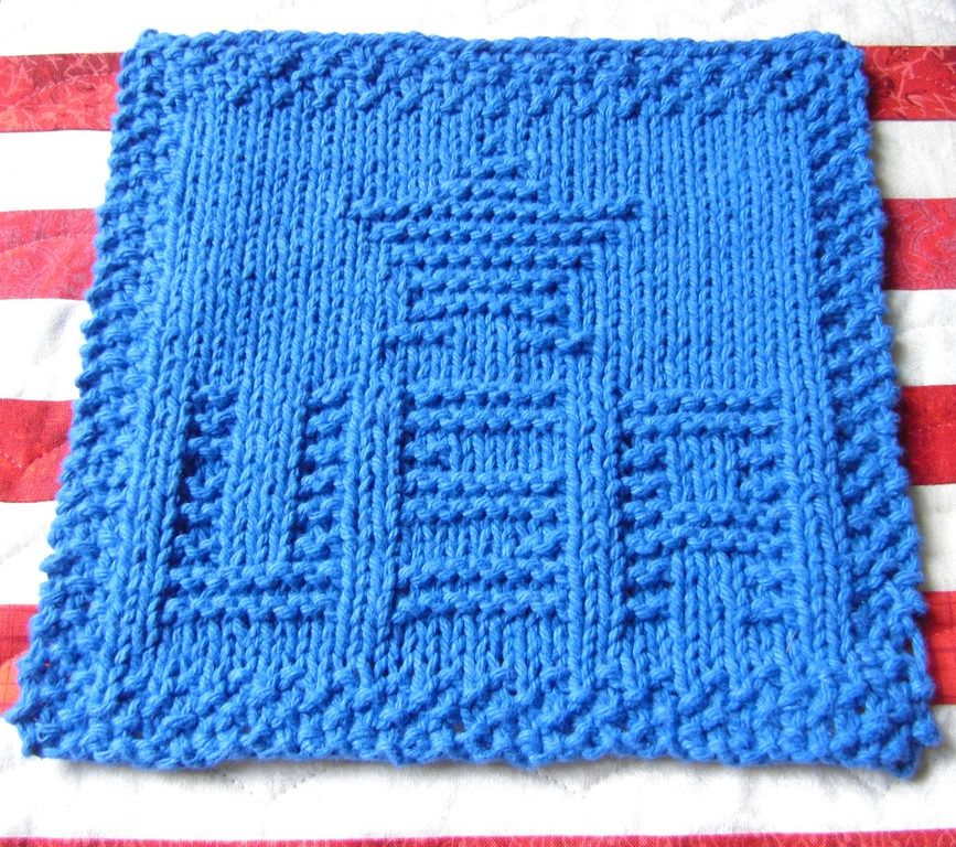 Free Knitting Pattern for USA Star Cloth - Great Fourth of July ...