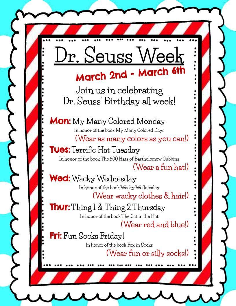 Dr. Seuss Week - 2020