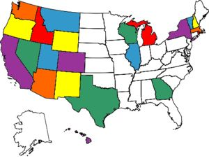 states I have been to so far...