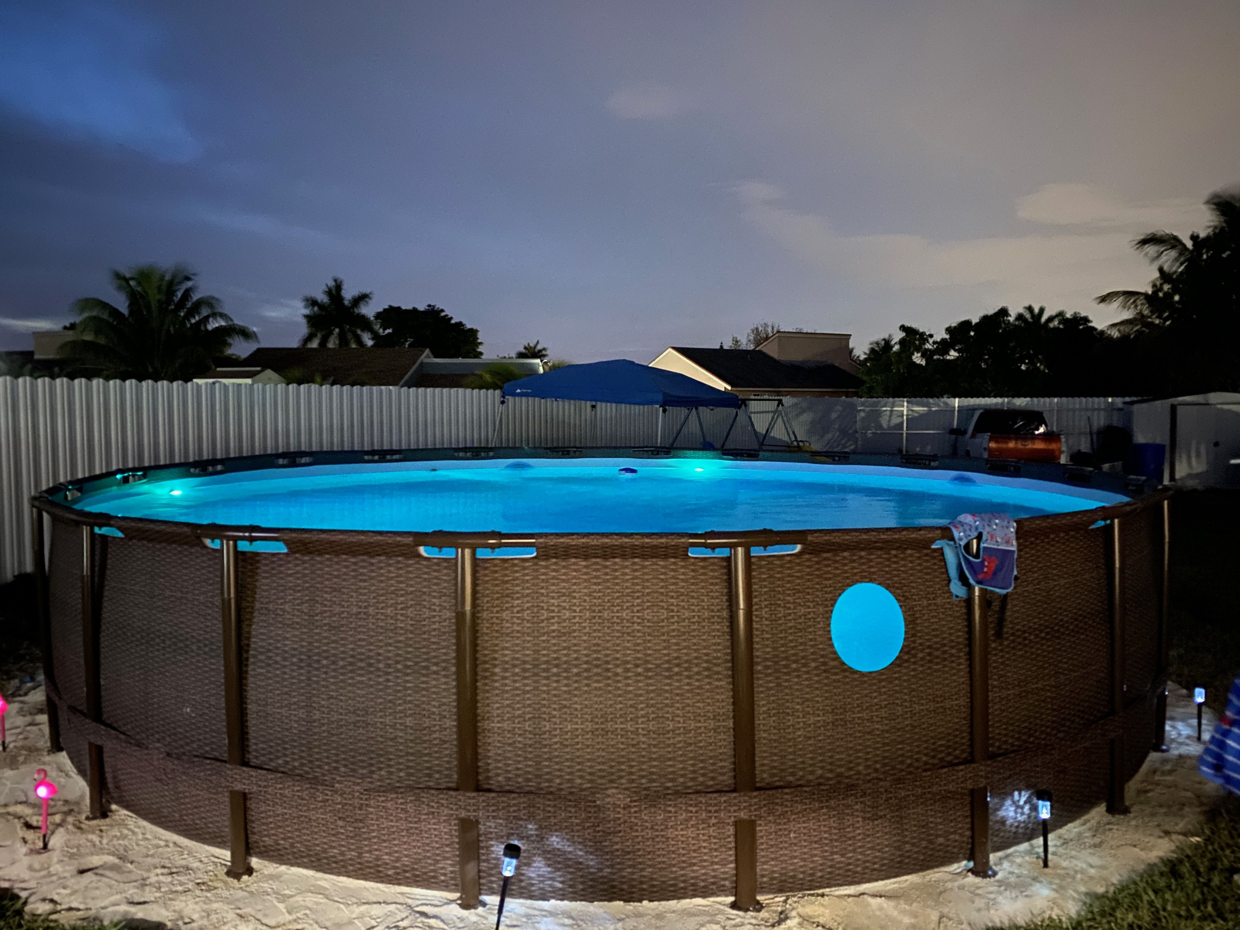 Above Ground Pool Outdoor Pool Area Backyard Pool Coleman Pool