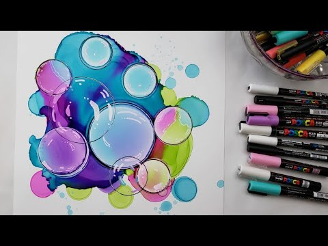How To Make Alcohol Ink Circles Into Bubbles Detailing Youtube Alcohol Ink Crafts Alcohol Ink Markers Alcohol Ink Painting