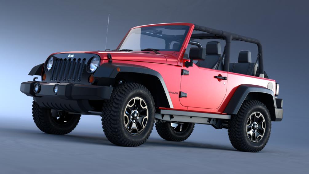 Complete Vehicle Production In Blender Blender Jeep Wrangler Car Model