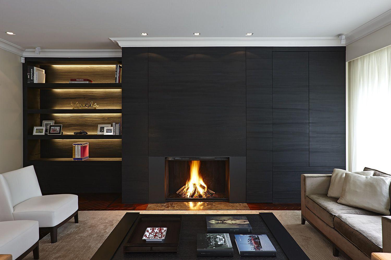 Cheminée contemporaine designed by Metalfire http://atryhome.com ... - Habillage Cheminée Moderne