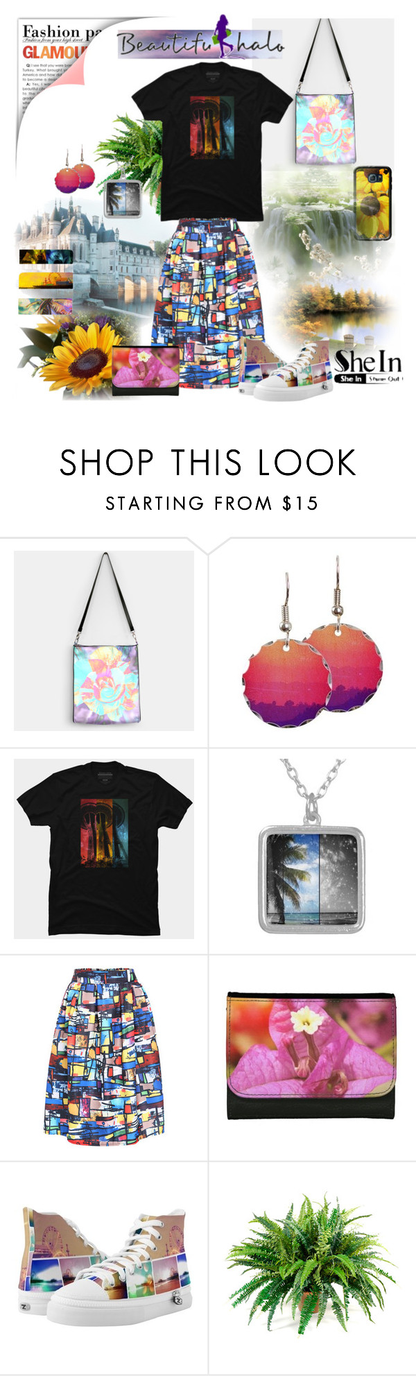 Add more color to your life! by stine1online on Polyvore: Add more color to your life with this SheIn multicolor print skirt matched up with prismatic t-shirt, shoes, jewelry, smartphone case and accessories designed by Christine aka stine1. This is anything but boring fashion!