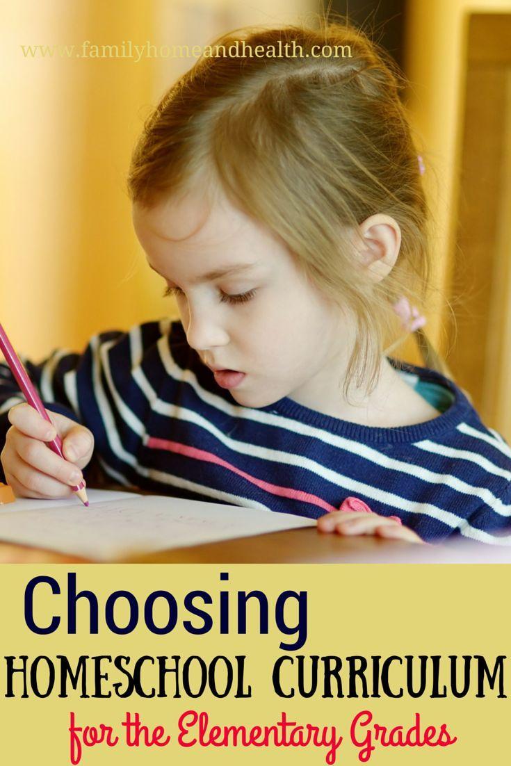 Choosing Homeschool Curriculum For The Elementary Grades Pinterest