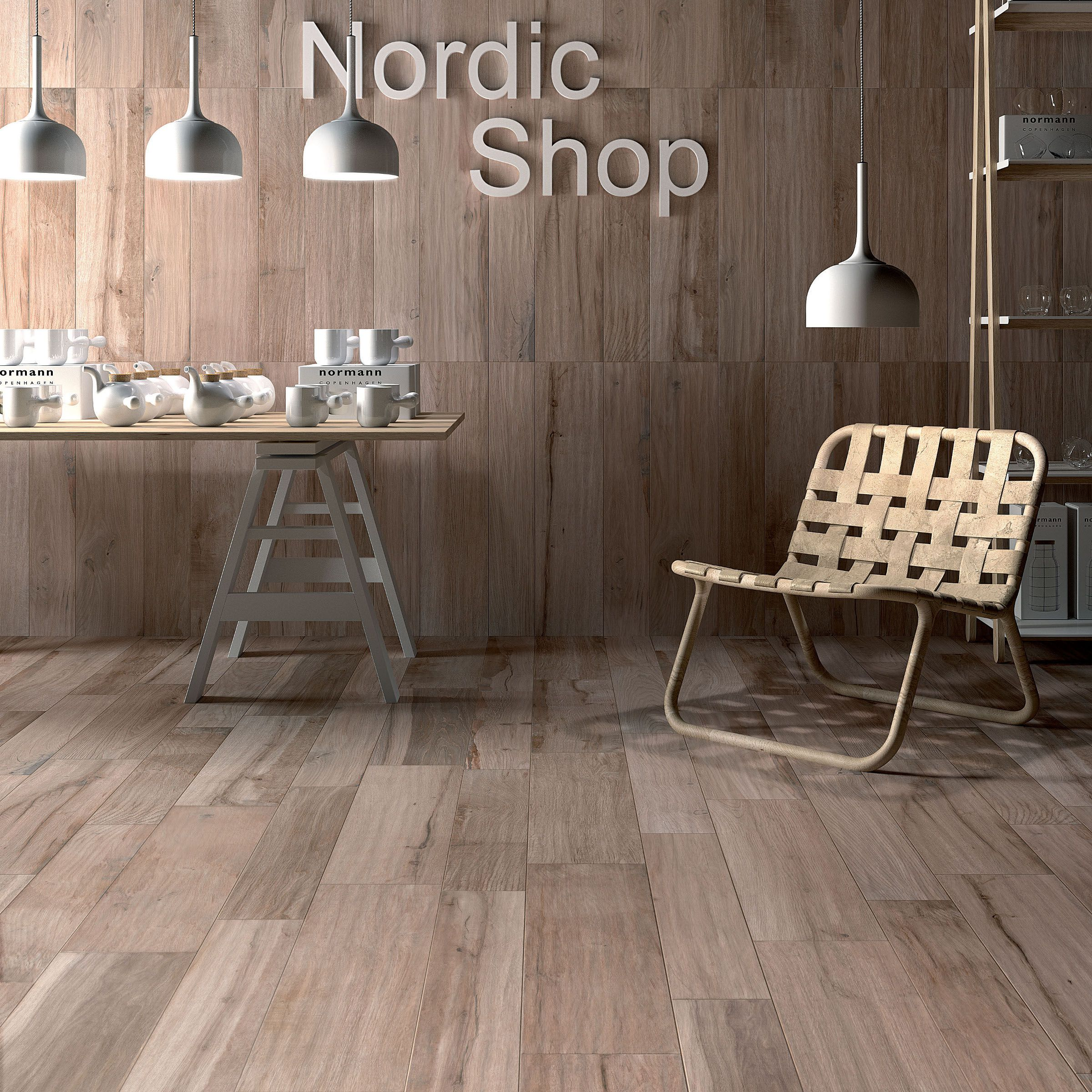 Wall floor tiles with wood effect SOLERAS by ABK Industrie Ceramiche