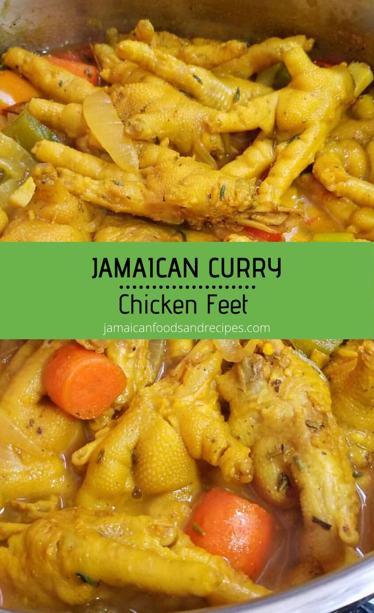jamaican curry chicken feet  recipe  jamaican curry