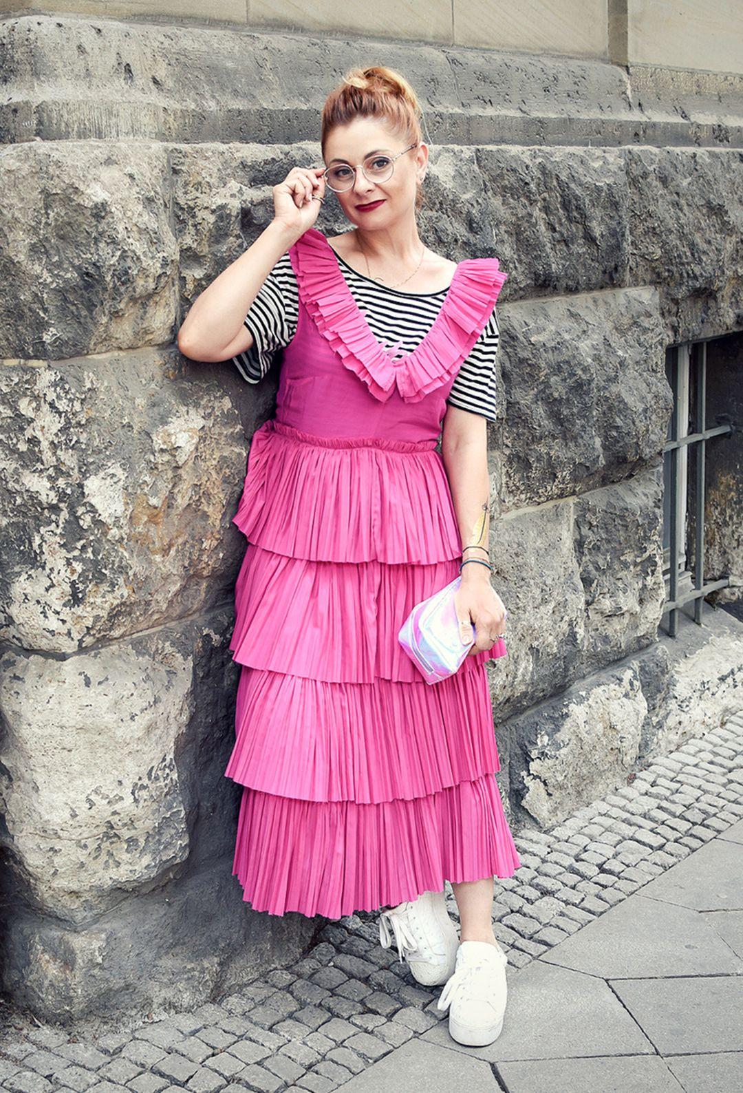 sommerkleid in pink und die schönsten volantkleider online