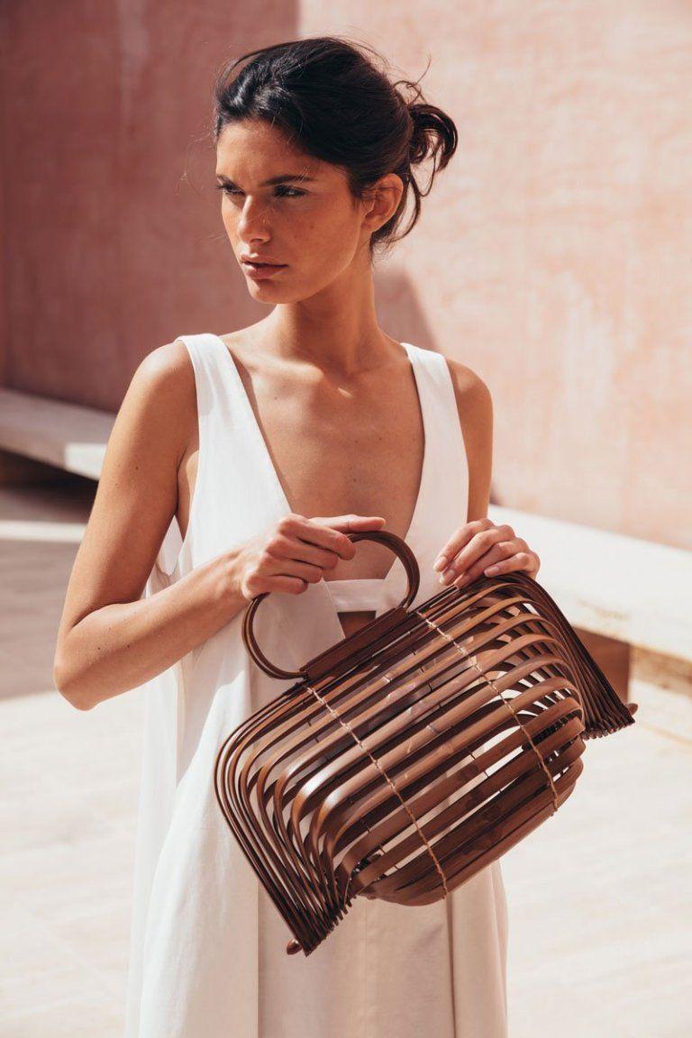 Women Acrylic Ark Clutch Summer Handbag Vacation Bamboo Cult Gaia 2019