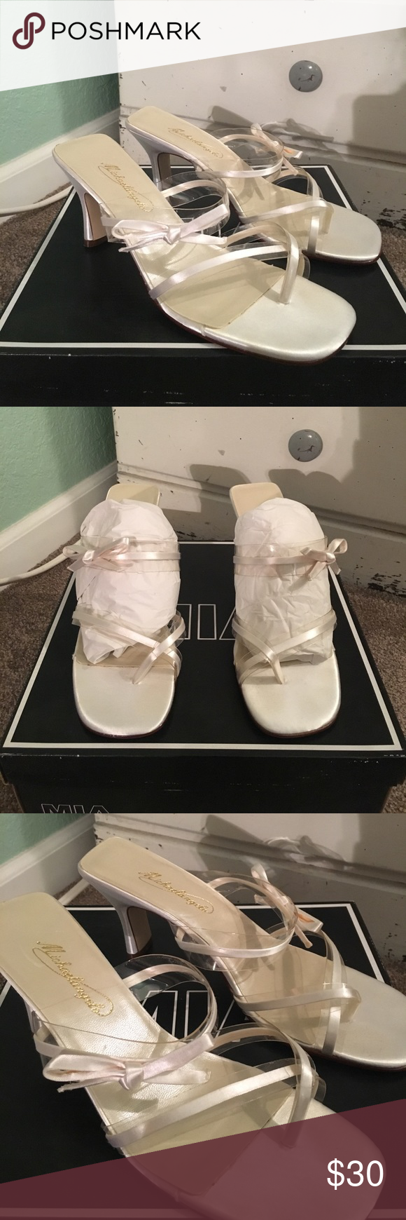 Michaelangelo wedding dress  Shelby Classic wedding heel by Michaelangelo From Davidus Bridal