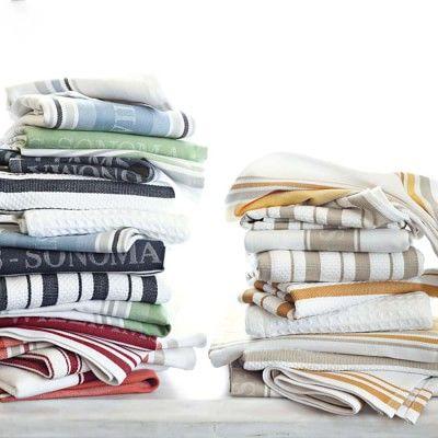 Williams Sonoma Classic Striped Dishcloths Striped Towels Williams Sonoma Logo Towels
