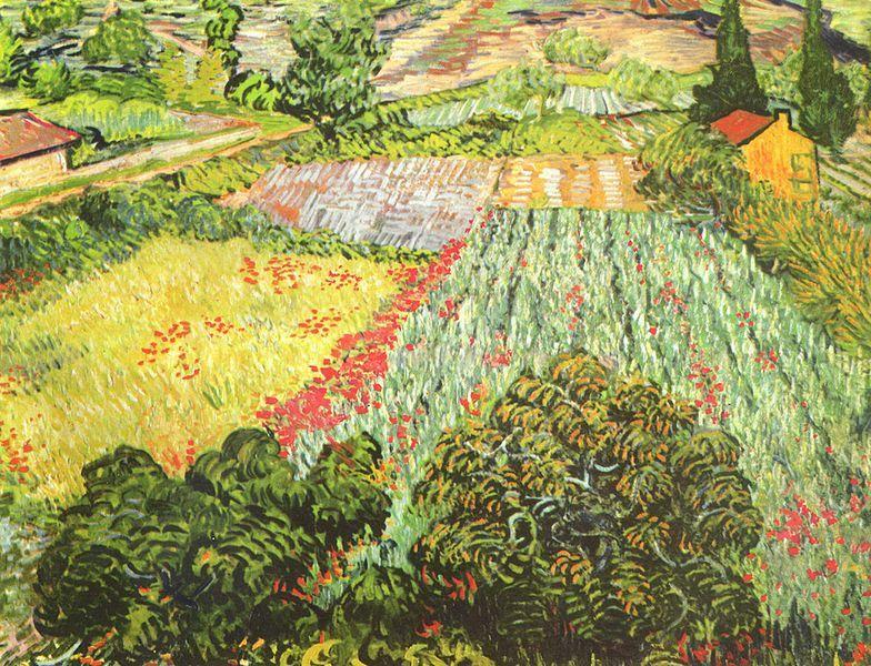 Das Mohnblumenfeld 1889 Van Gogh Paesaggi Dipinti Impressionisti