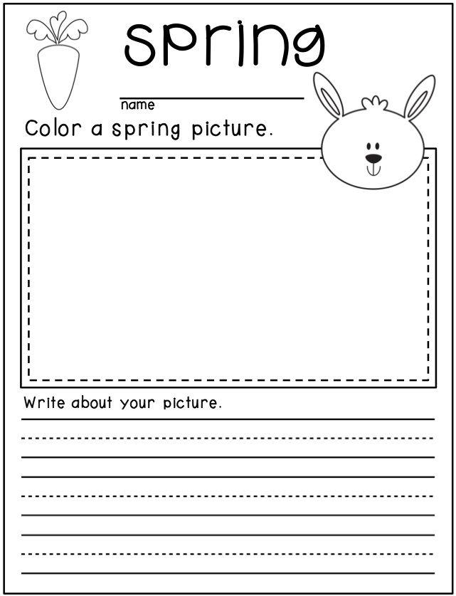 Spring Writing For Kindergarten Kindergarten Writing Activities