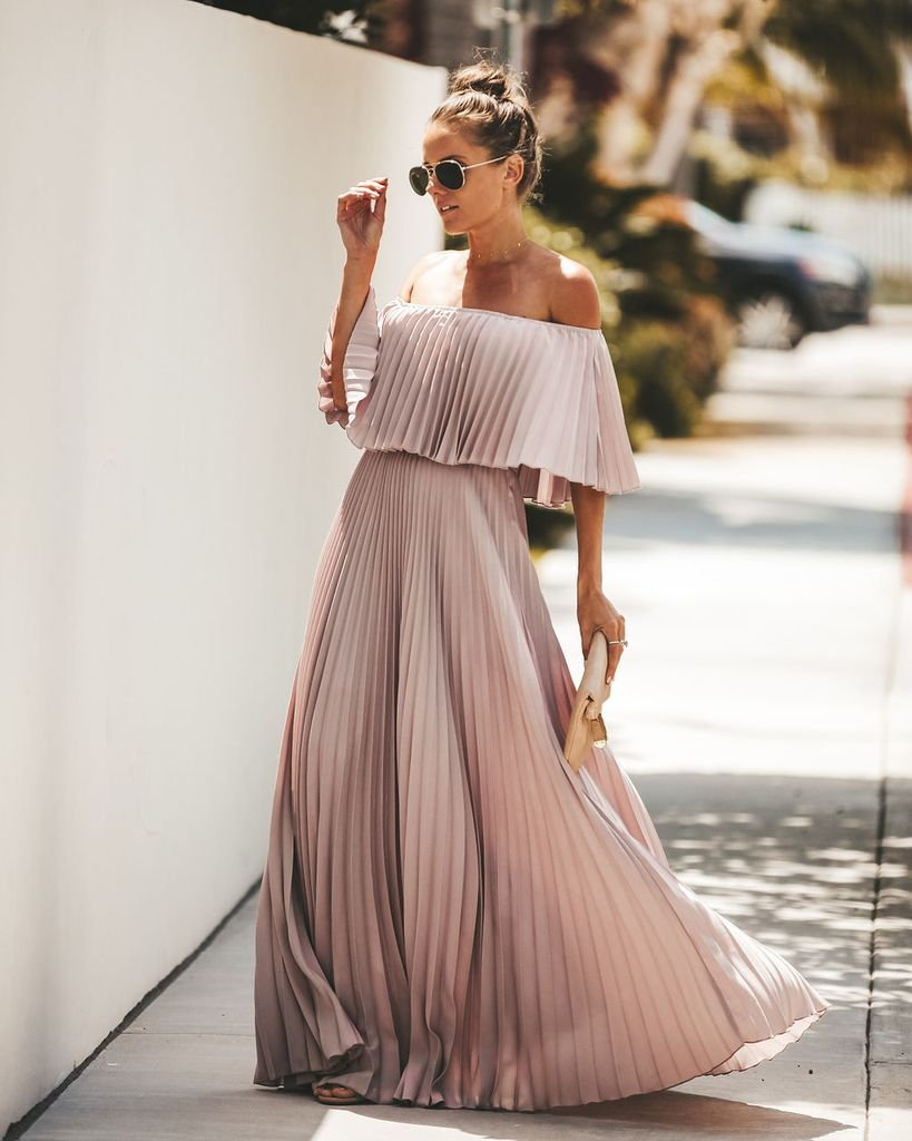 Eternal Love Pleated Maxi Dress Dusty Violet Boho Summer Dresses [ 1024 x 819 Pixel ]