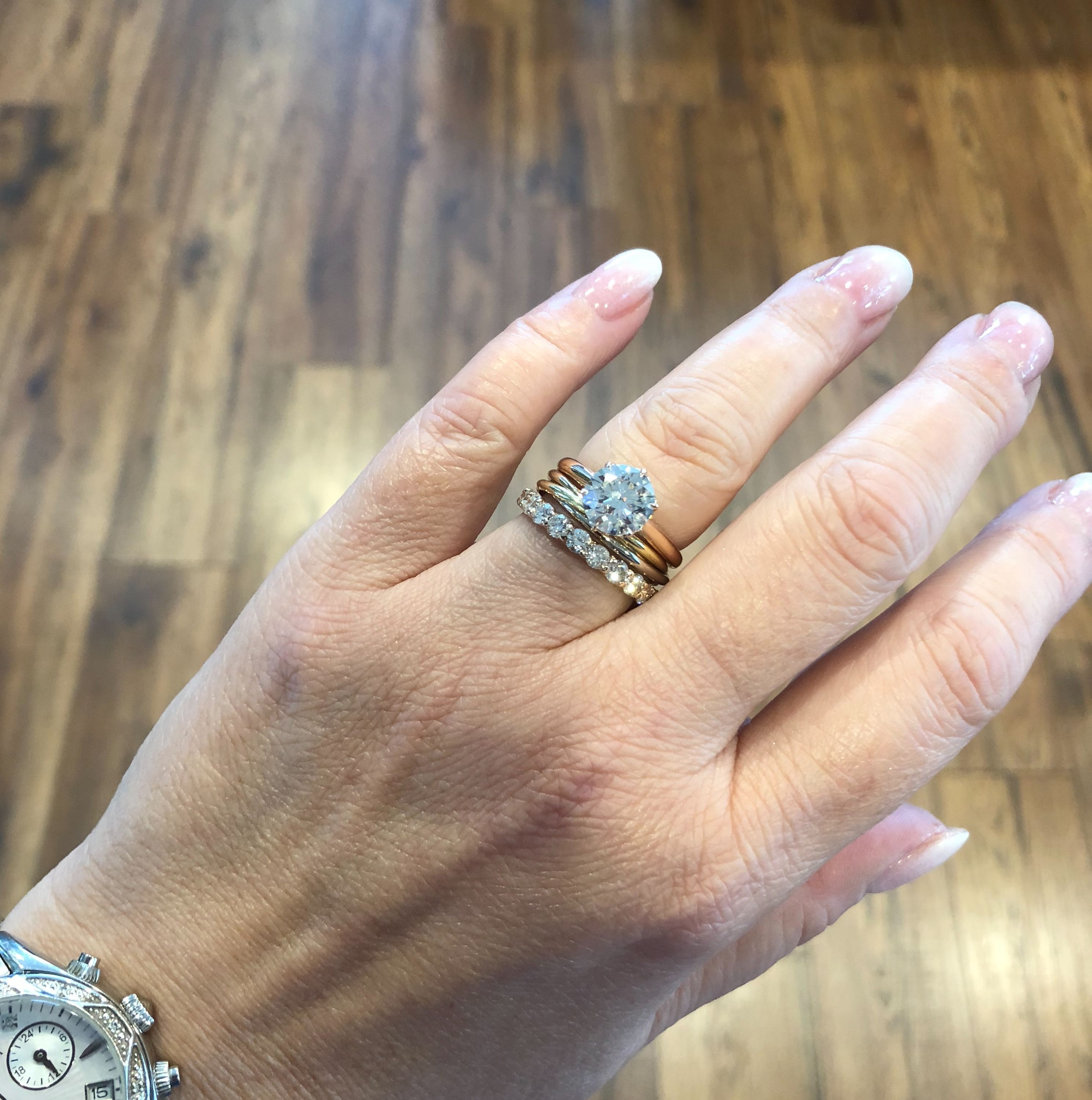 Show me your XS Cartier Trinity Ring worn with Ering as