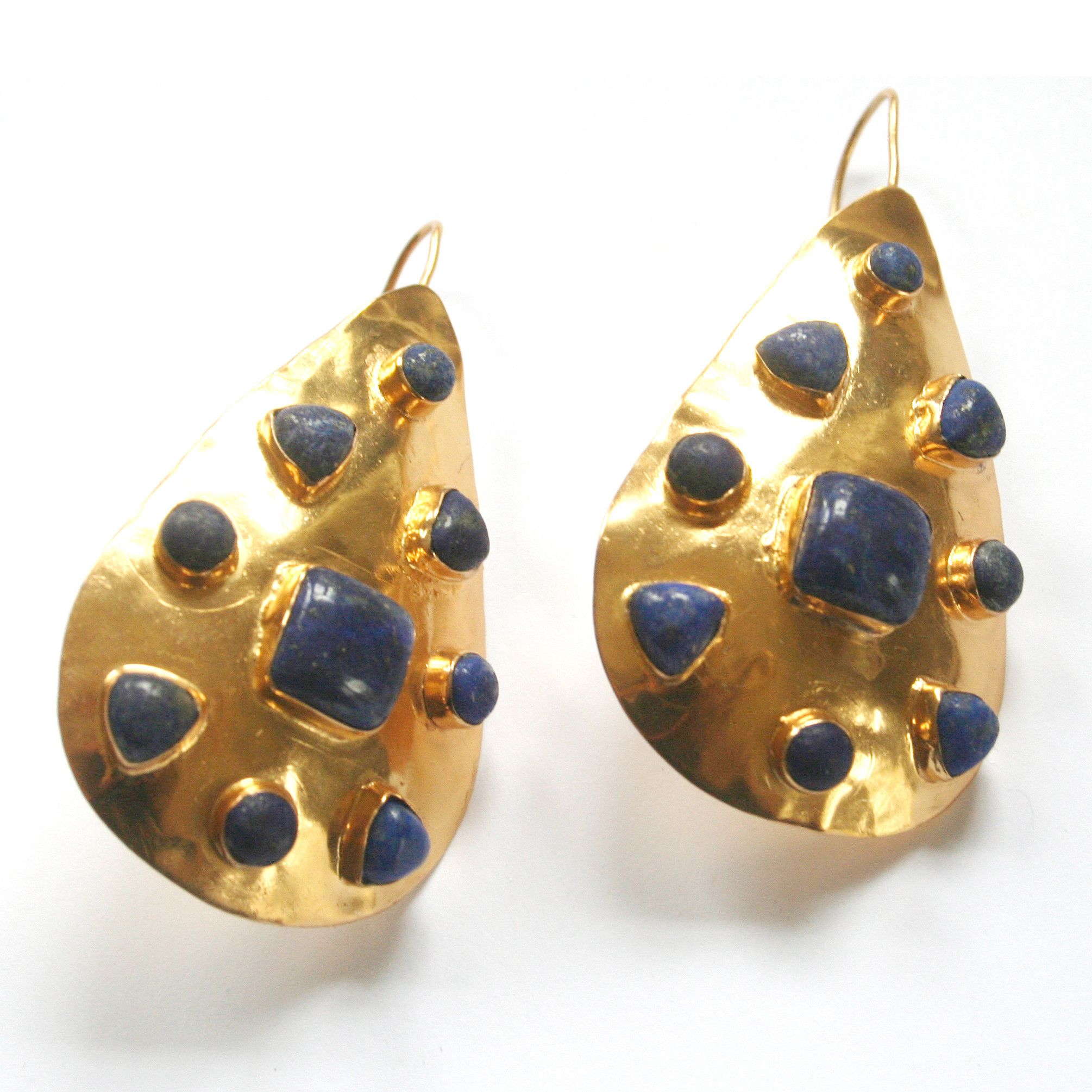 9253ecde7 Gold Riddick Earrings LG with Lapis | Lapis Love | Jewelry, Earrings ...