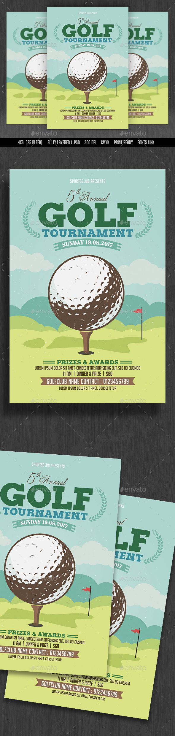Golf Tournament Flyer  Event Flyer Templates Event Flyers And